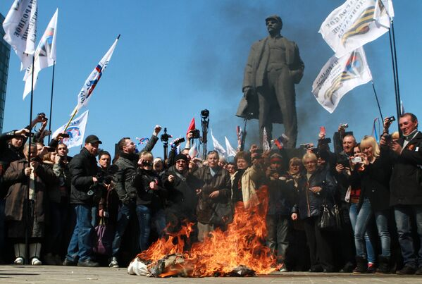 Ukraine: les partisans de la fédéralisation manifestent - Sputnik France