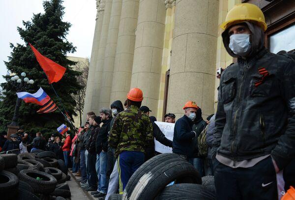 Les partisans de la fédéralisation à Kharkov - Sputnik France