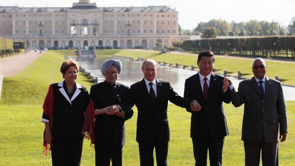 Общее фотографирование глав делегаций стран-участниц БРИКС - Sputnik France