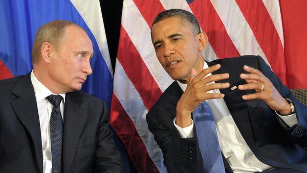 Barack Obama et Vladimir Poutine - Sputnik France