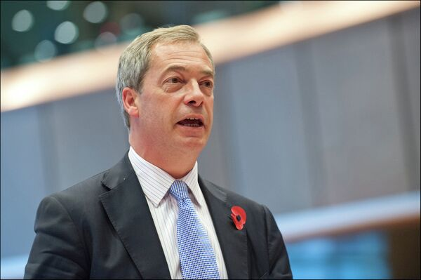 Le leader du Parti britannique de l'indépendance Nigel Farage - Sputnik France