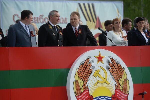 Une délégation russe comprenant Dmitri Rogozine s'est rendue le 9 mai en Transnistrie - Sputnik France