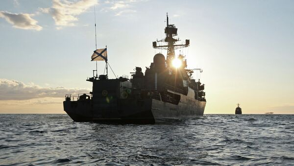 Le patrouilleur Iaroslav Moudry lors d'un exercice tactique en mer Baltique. - Sputnik France