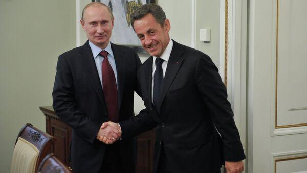 Vladimir Poutine a Nicolas Sarkozy. (Archives) - Sputnik France