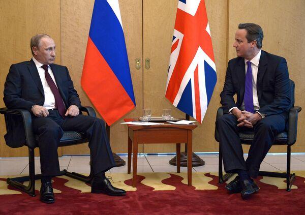 Rencontre Poutine-Cameron à Paris - Sputnik France