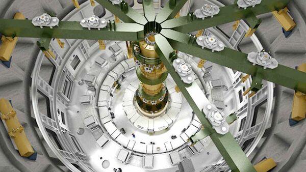 Процесс сборки термоядерного реактора ИТЭР - Sputnik France