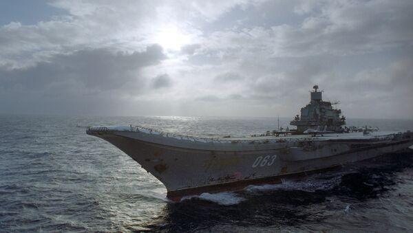 Le porte-avions Amiral Kouznetsov - Sputnik France