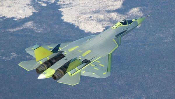 Самолет Т-50 ПАК ФА (Перспективный авиационный комплекс фронтовой авиации) - Sputnik France