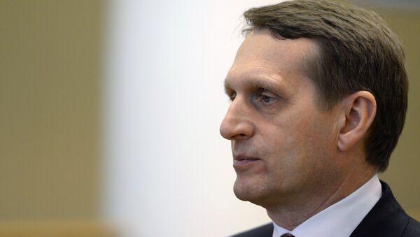 Sergueï Narychkine, président de la Douma - Sputnik France