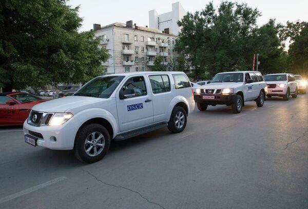 Ukraine/Russie: un obus explose à proximité d'observateurs de l'OSCE - Sputnik France