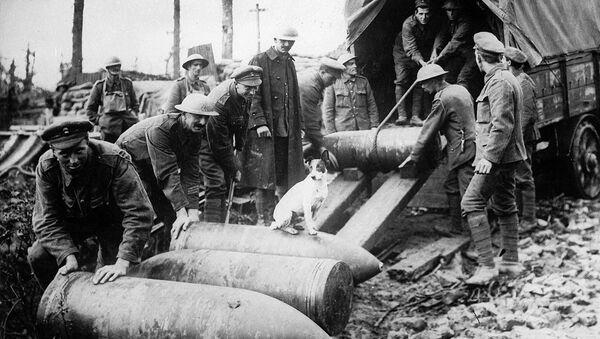 Разгрузка снарядов на Западном фронте Первой мировой войны - Sputnik France