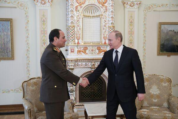 Président russe Vladimir Poutine et son homologue égyptien Abdel Fattah al-Sissi (Archive) - Sputnik France