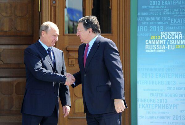 Vladimir Poutine et José Manuel Barroso (Archives) - Sputnik France