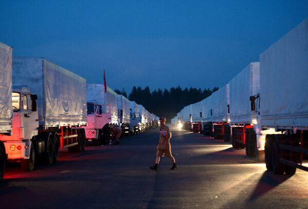 Le convoi humanitaire russe en route vers l'Ukraine (officiel) - Sputnik France