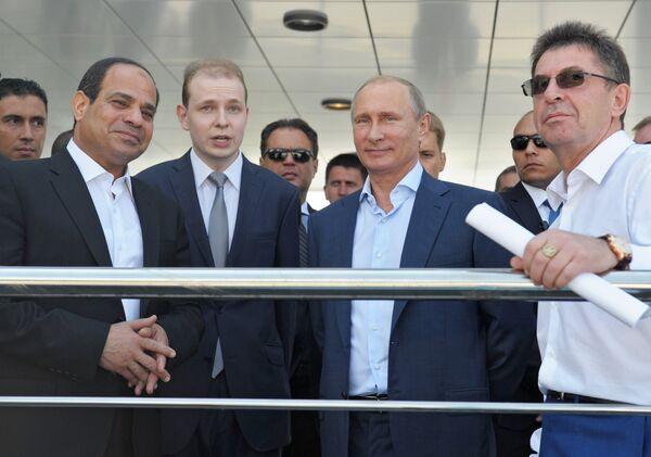 Abdel Fattah al-Sisi et Vladimir Poutine - Sputnik France