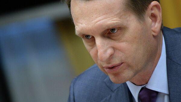 Président de la Douma, Sergueï Narychkine - Sputnik France