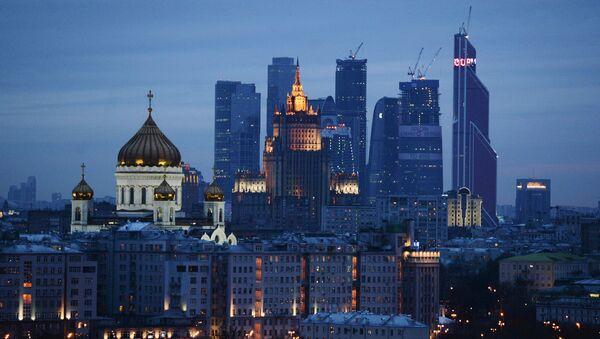 Вид на храм Христа Спасителя и ММДЦ Москва-Сити - Sputnik France