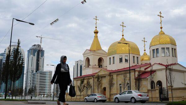 Сathédrale de l'Archange-Saint-Michel à Grozny - Sputnik France