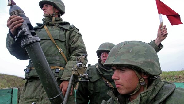 Военные учения на полигоне Балтийского флота в Калининградской области - Sputnik France