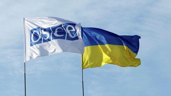 Флаги ОБСЕ и Украины - Sputnik France