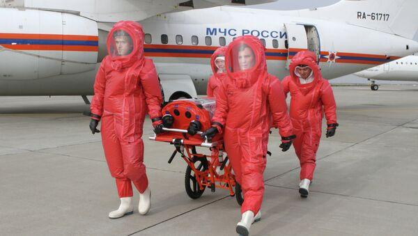 Презентация самолета, предназначенного для перевозки инфицированных лихорадкой Эбола - Sputnik France
