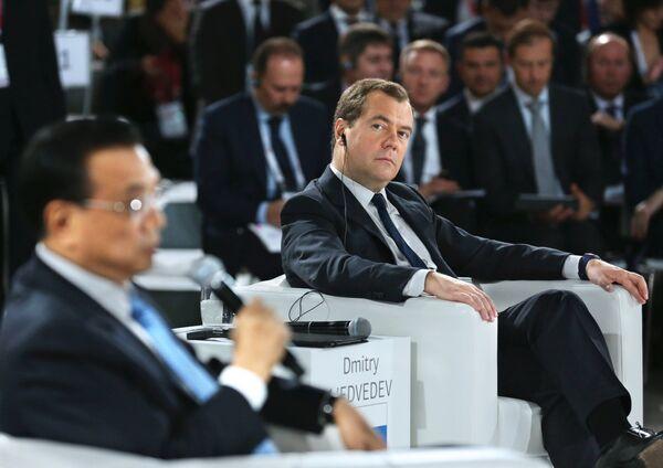 Li Keqiang et Dmitri Medvedev - Sputnik France