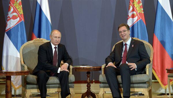 Vladimir Poutine et Aleksandar Vucic - Sputnik France