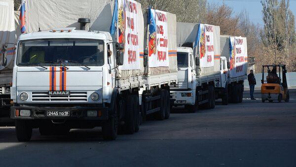 Российская гуманитарная помощь прибыла в Донецк - Sputnik France
