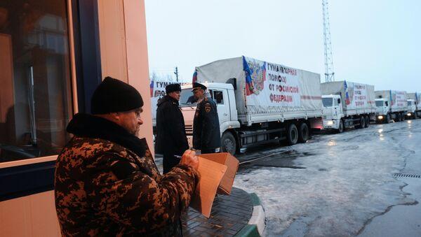 Ukraine: le 9e convoi humanitaire russe est arrivé au Donbass - Sputnik France