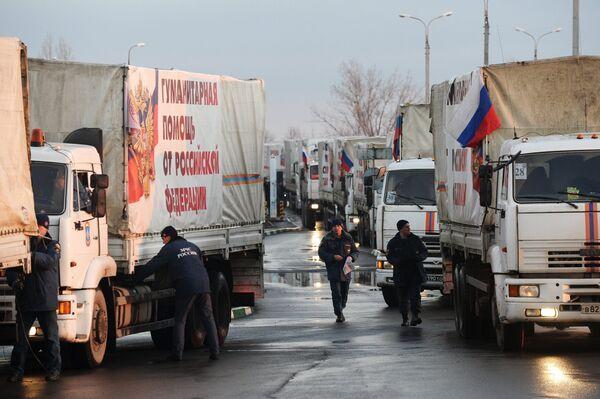 Ukraine: un nouveau convoi humanitaire russe arrive à Donetsk - Sputnik France
