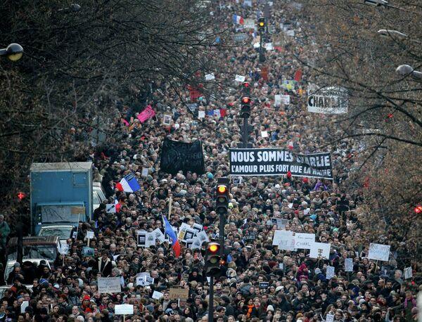 La Marche républicaine débute à Paris - Sputnik France