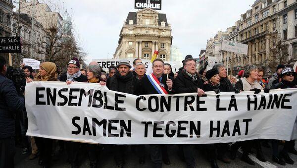 Marche contre la haine: 15.000 manifestants à Bruxelles - Sputnik France
