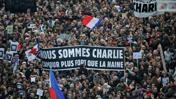 Marche républicaine à Paris: plus d'un million de participants - Sputnik France