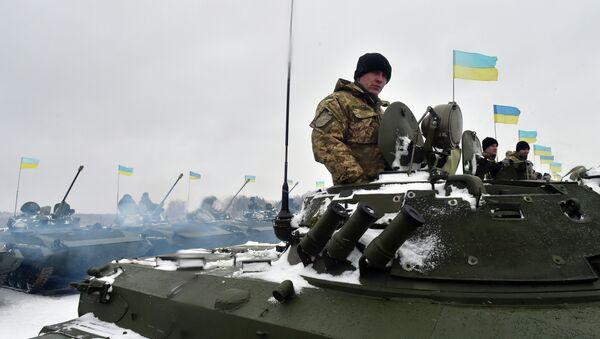 Des militaires ukrainiens sur la base militaire - Sputnik France
