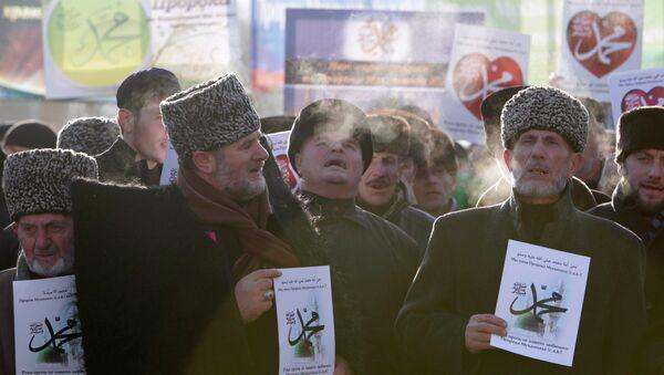 Charlie Hebdo: un million de musulmans manifestent en Tchétchénie - Sputnik France