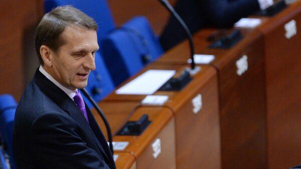 Sergueï Narychkine, président de la Douma, à la session d'hiver de l'APCE - Sputnik France